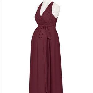 Azazie Athena Maternity Bridesmaid Dress Cabernet